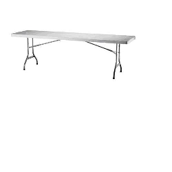 White folding table 6' buffet style